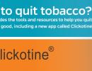 clickotine tobacco cessation app