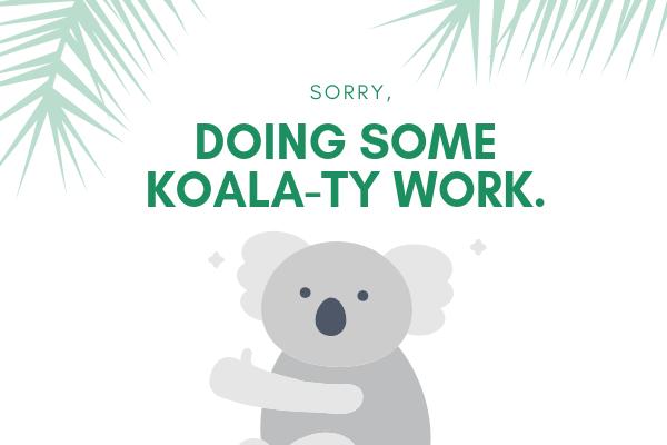 Koala-Ty work