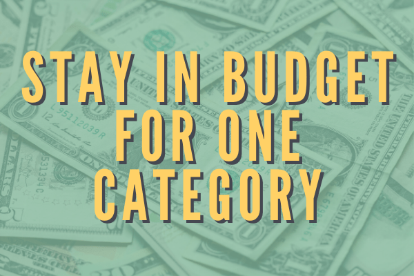 Stay in budget in one category