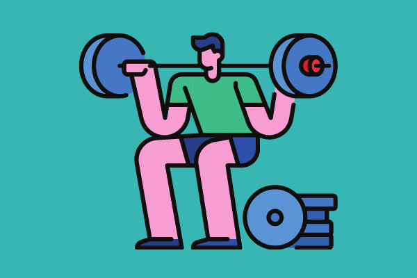 Person weightlifting
