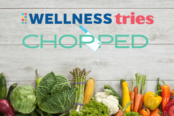 logo of wellness tries chopped with assorted vegetables