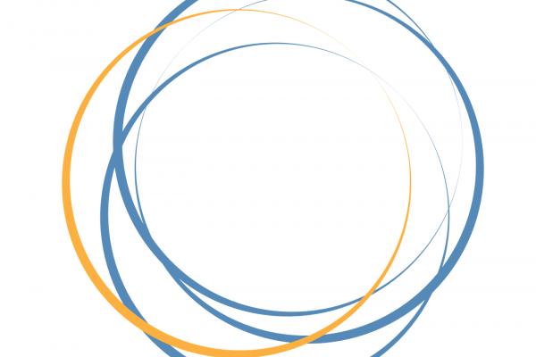 interlocking orange and blue circles