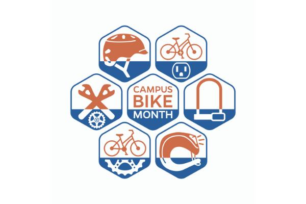 uf campus bike month logo