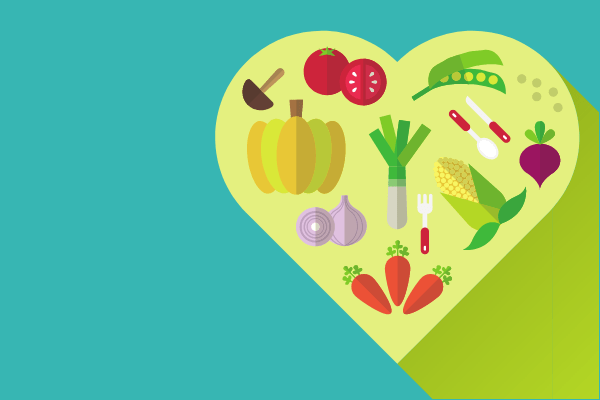 image of light green heart filled with fruits and vegetables