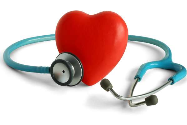 heart encircled by stethoscope