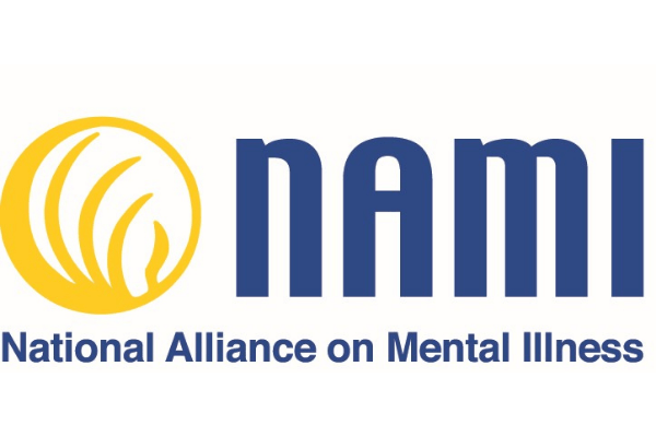 yellow and blue logo of NAMI