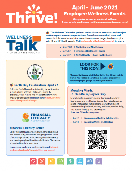 Thrive 2021 Employee Wellnes Poster page 1
