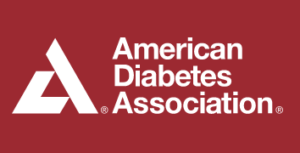 white american diabetes association logo on red background