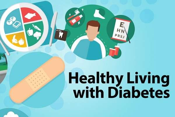 health living with diabetes infographic from CDC