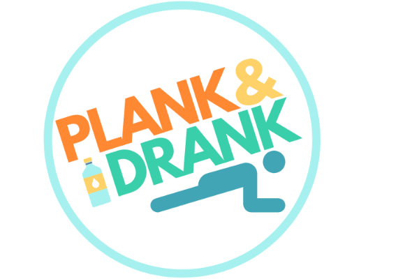 image of person doing plank with text plank and drank