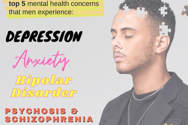 men's top 5 mental health concerns