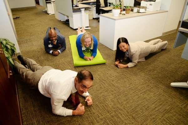 College of Medicine-Jacksonville Leadership Team Planking
