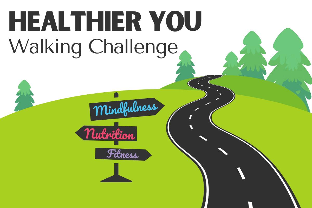 healthier you walking challenge logo