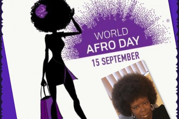 graphic celebrating World Afro Day